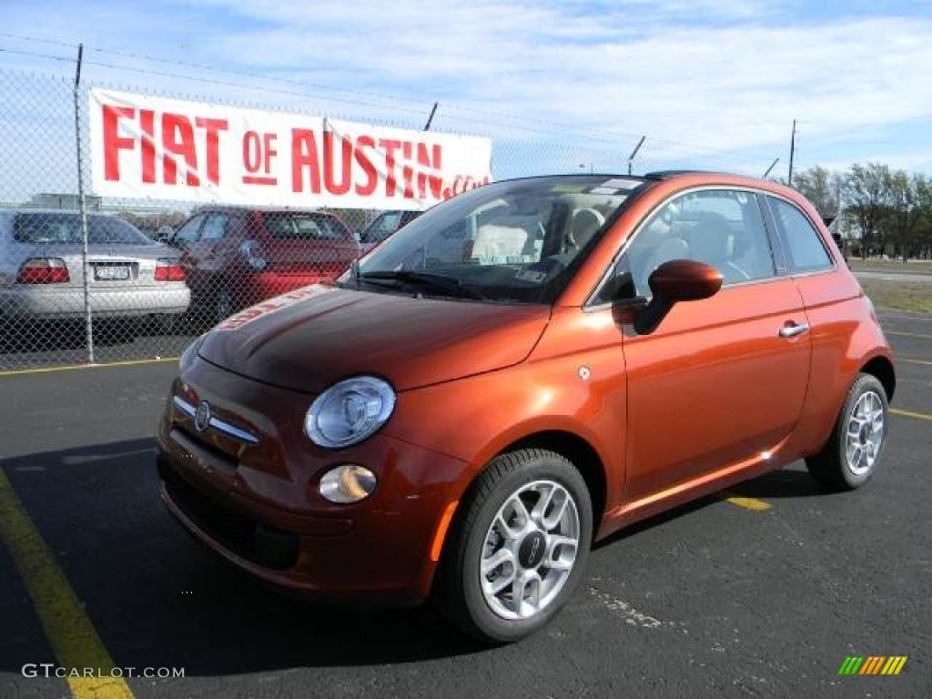 2012 rame copper orange fiat 500 c cabrio pop 59169289 car color galleries. Black Bedroom Furniture Sets. Home Design Ideas