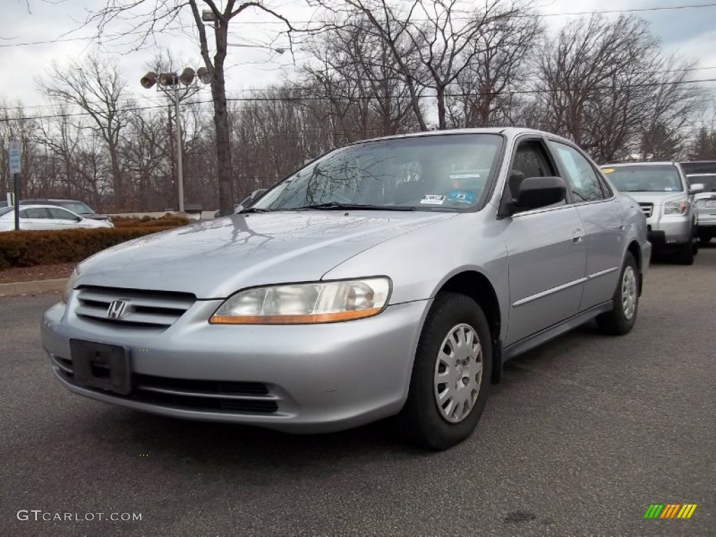 Satin Silver Metallic 2002 Honda Accord Vp Sedan Exterior