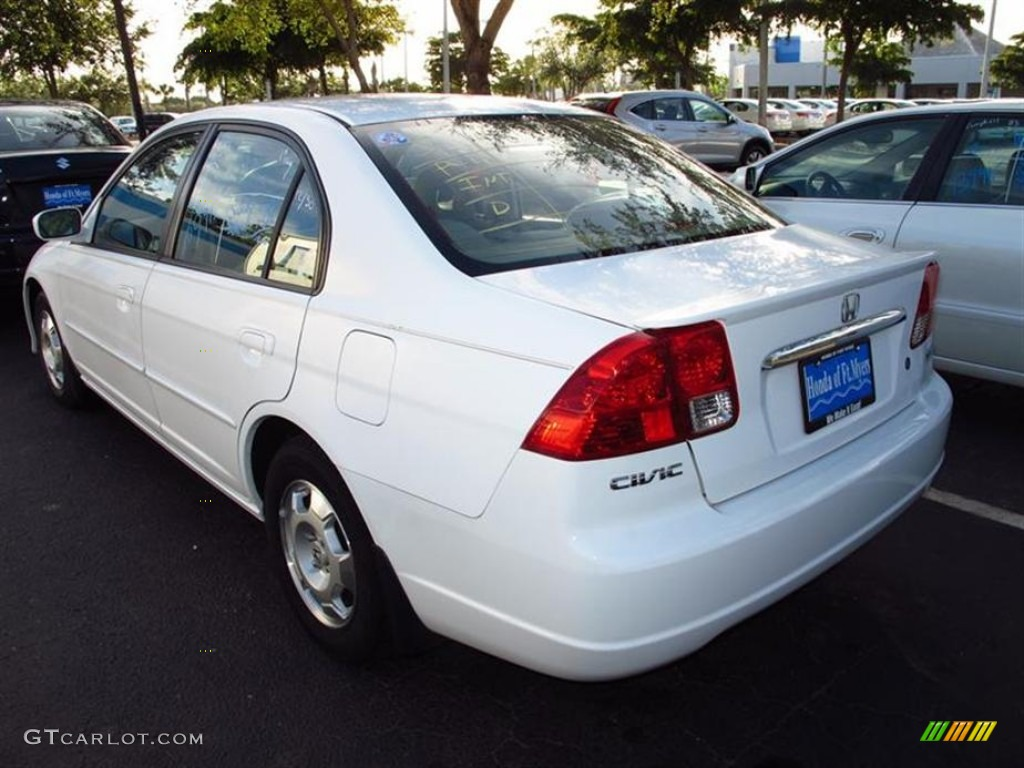 2003 Civic Hybrid Sedan   Taffeta White / Beige Photo #3