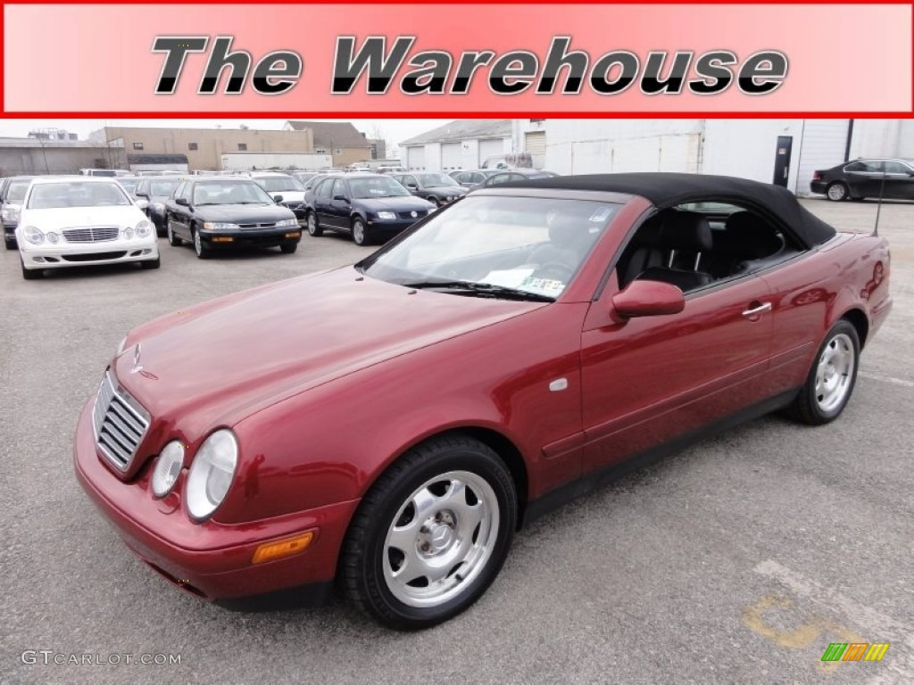 1999 bordeaux red metallic mercedes benz clk 320 convertible 59168408 car. Black Bedroom Furniture Sets. Home Design Ideas