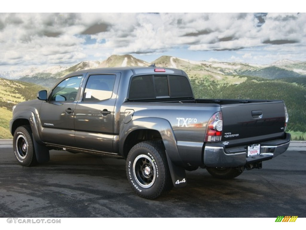 Marvelous Magnetic Gray Mica 2012 Toyota Tacoma TX Pro Double Cab 4x4 Exterior Photo  #59216655
