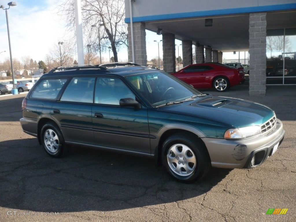 1999 legacy outback wagon spruce green pearl gray photo 1