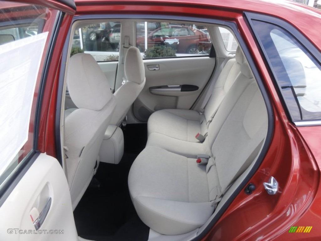 Ivory Interior 2009 Subaru Impreza Sedan Photo 59227767