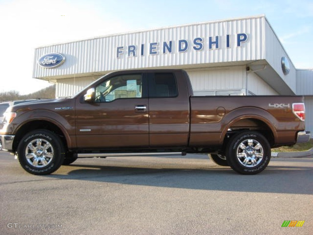 Golden bronze metallic ford f150 ford f150 lariat supercab 4x4