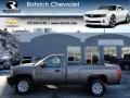2012 Mocha Steel Metallic Chevrolet Silverado 1500 Work Truck Regular Cab 4x4  photo #1