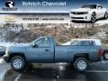 2012 Blue Granite Metallic Chevrolet Silverado 1500 Work Truck Regular Cab 4x4  photo #1