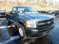 2012 Blue Granite Metallic Chevrolet Silverado 1500 Work Truck Regular Cab 4x4  photo #6