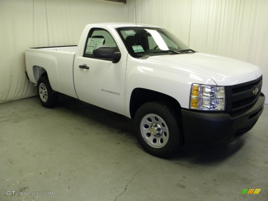 2012 Silverado 1500 Work Truck Regular Cab - Summit White / Dark Titanium photo #1
