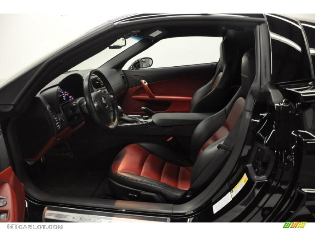 Ebony Black Red Interior 2011 Chevrolet Corvette Grand Sport Coupe Photo 59263143