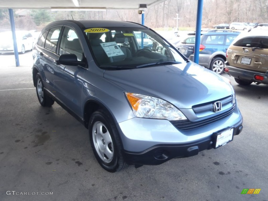2009 CR-V LX 4WD - Glacier Blue Metallic / Gray photo #1