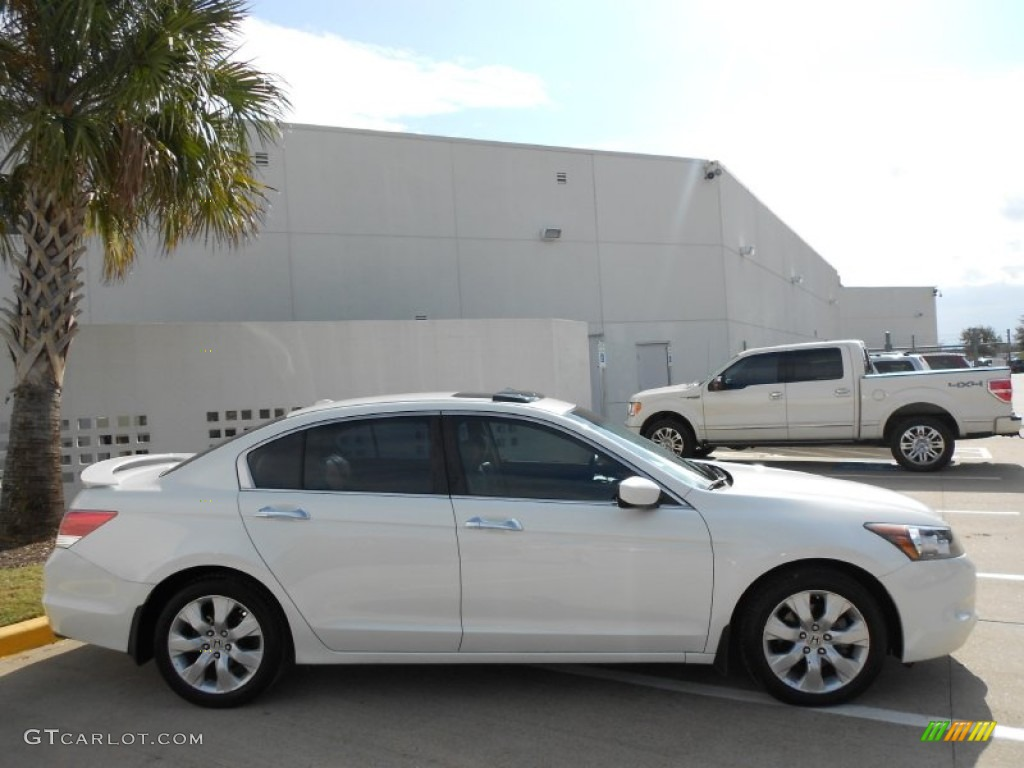 White Diamond Pearl 2008 Honda Accord EX-L V6 Sedan Exterior Photo #59270313 | GTCarLot.com