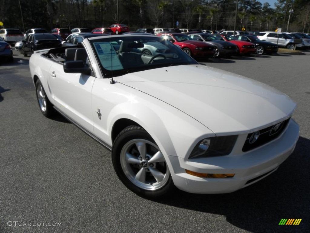 2007 Mustang V6 Premium Convertible - Performance White / Light Graphite photo #1