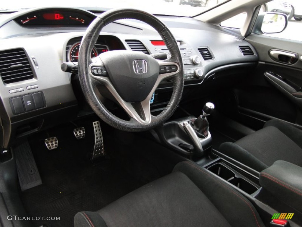 Attractive Black Interior 2010 Honda Civic Si Sedan Photo #59306111