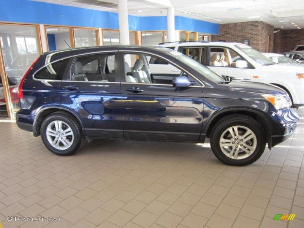 2011 CR-V EX-L 4WD - Royal Blue Pearl / Gray photo #1