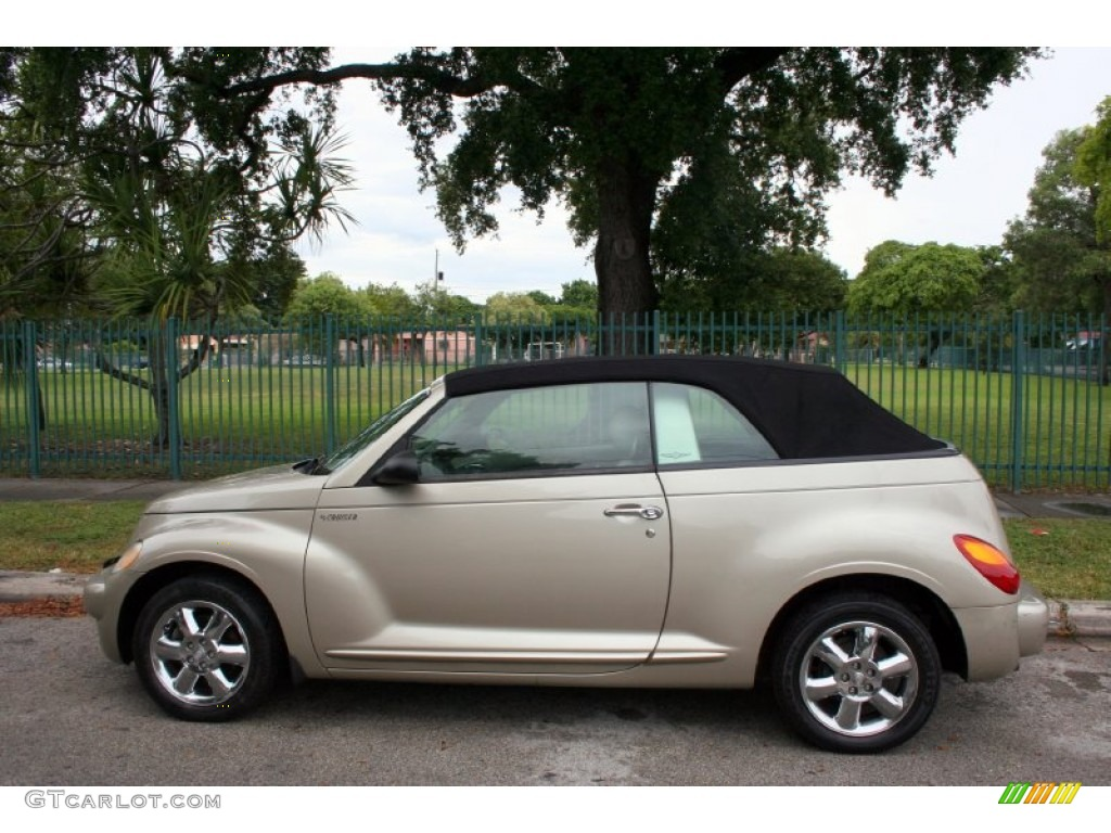 linen gold metallic pearl 2005 chrysler pt cruiser touring turbo convertible exterior photo. Black Bedroom Furniture Sets. Home Design Ideas