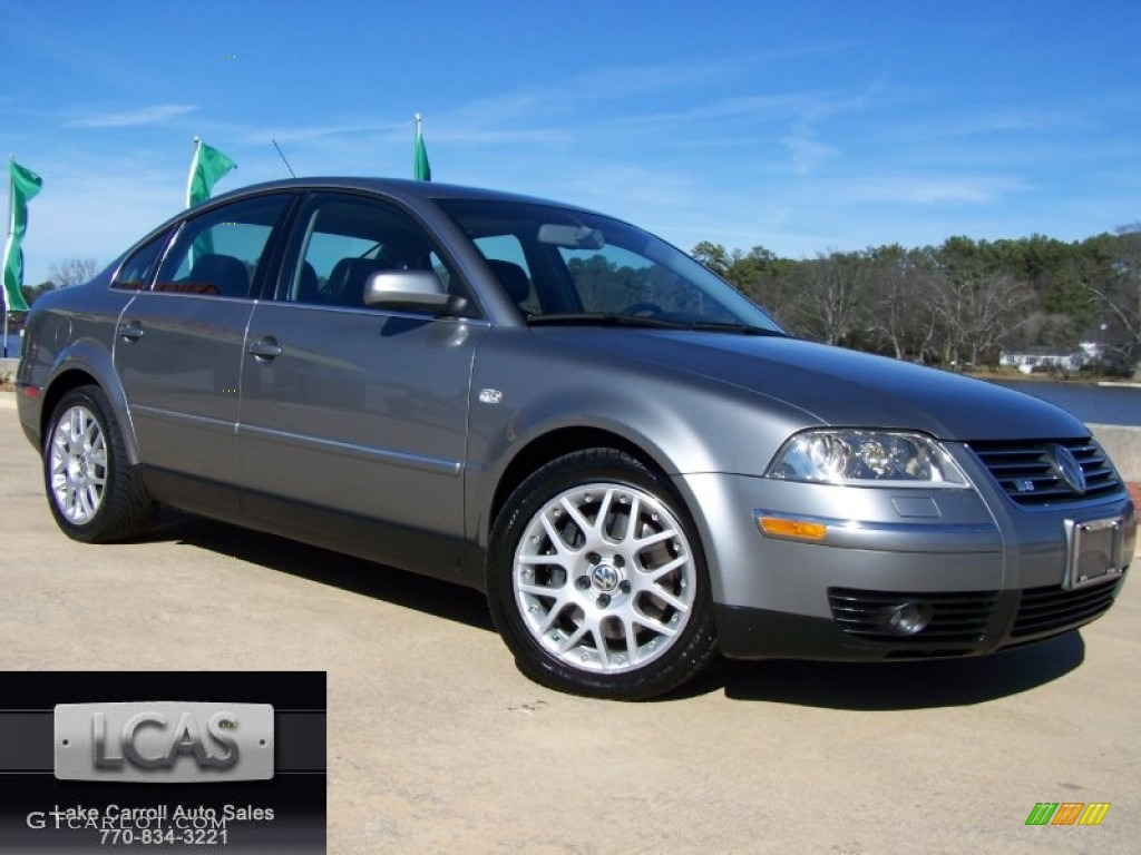 2003 silverstone grey metallic volkswagen passat w8 4motion sedan 59243132 car. Black Bedroom Furniture Sets. Home Design Ideas