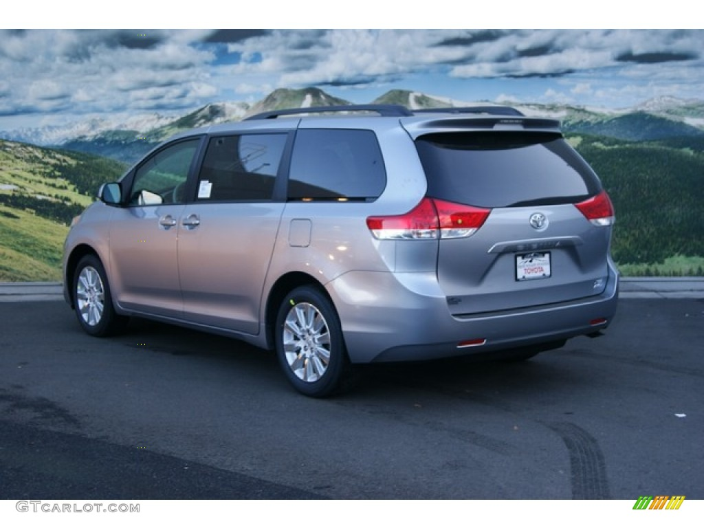 2012 Sienna XLE AWD - Silver Sky Metallic / Light Gray photo #3