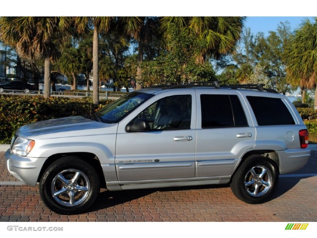 Bright Silver Metallic 2004 Jeep Grand Cherokee Overland 4x4 Exterior Photo  #59344582