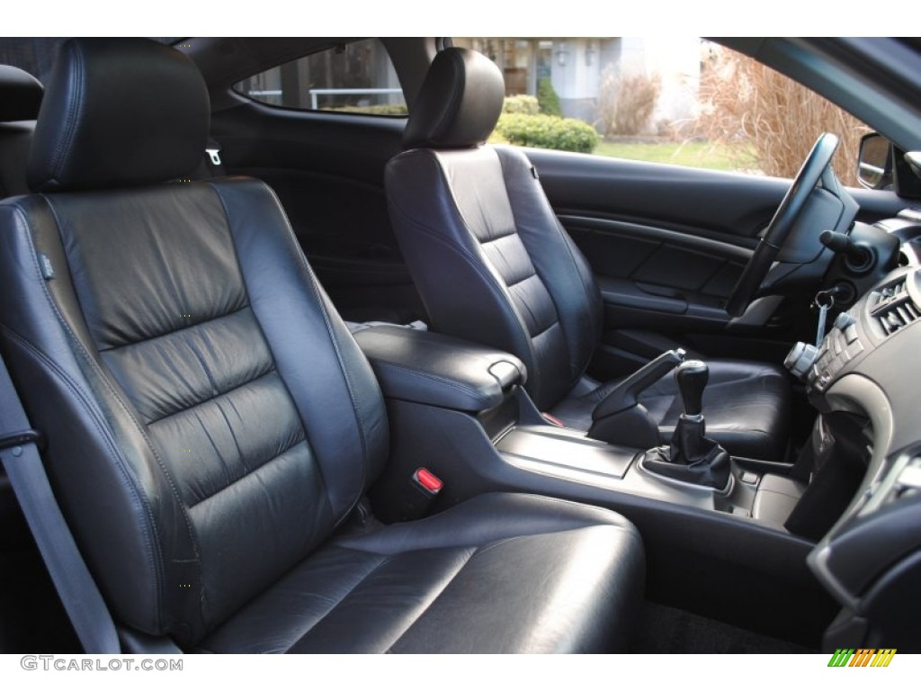 Black Interior 2008 Honda Accord EX L Coupe Photo #59352106