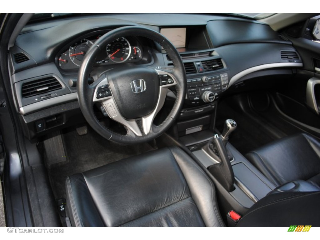 Black Interior 2008 Honda Accord Ex L Coupe Photo