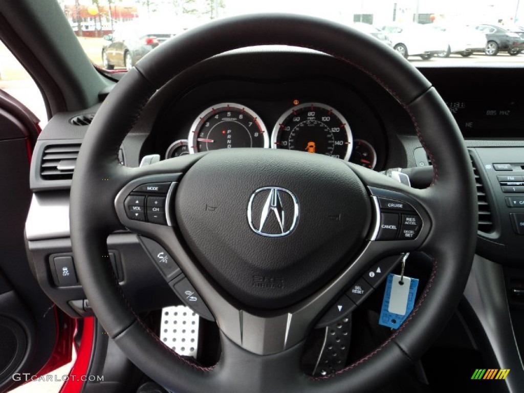 2012 Acura Tsx Special Edition Sedan Ebony Steering Wheel Photo 59365782 Gtcarlot Com