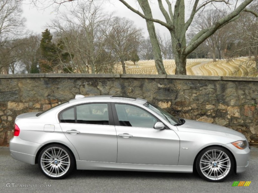 titanium silver metallic 2007 bmw 3 series 335i sedan. Black Bedroom Furniture Sets. Home Design Ideas