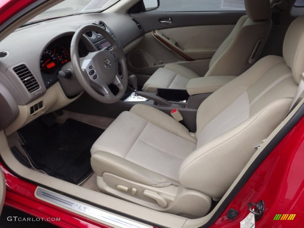 blond interior 2008 nissan altima 2 5 s coupe photo 59389405. Black Bedroom Furniture Sets. Home Design Ideas