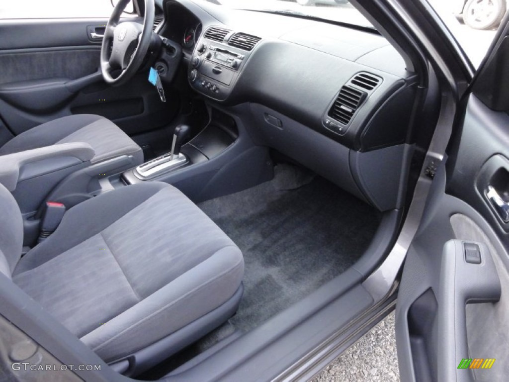 Gray Interior 2004 Honda Civic Lx Sedan Photo 59394042