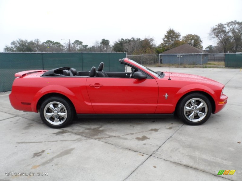 Torch red 2006 ford mustang v6 premium convertible exterior photo 59401238