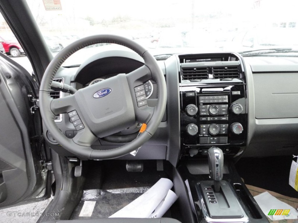 2012 ford escape xlt sport awd charcoal black dashboard. Black Bedroom Furniture Sets. Home Design Ideas