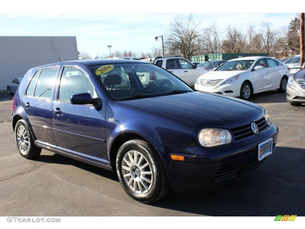 2004 indigo blue metallic volkswagen golf gls 4 door 59375842 car color galleries. Black Bedroom Furniture Sets. Home Design Ideas