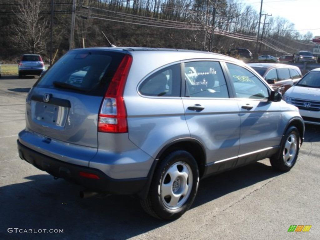 2009 CR-V LX 4WD - Glacier Blue Metallic / Gray photo #4