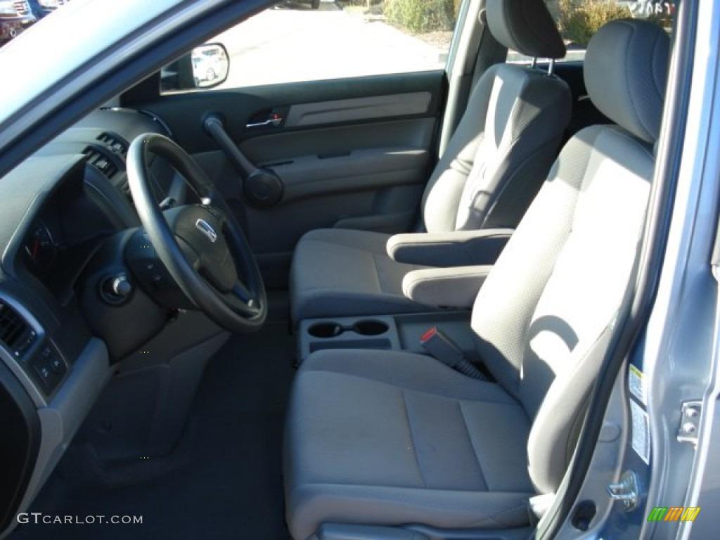 2009 CR-V LX 4WD - Glacier Blue Metallic / Gray photo #9
