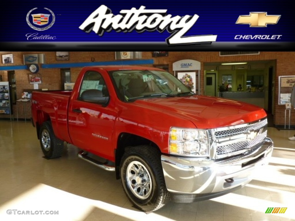 2012 Silverado 1500 LS Regular Cab 4x4 - Victory Red / Dark Titanium photo #1