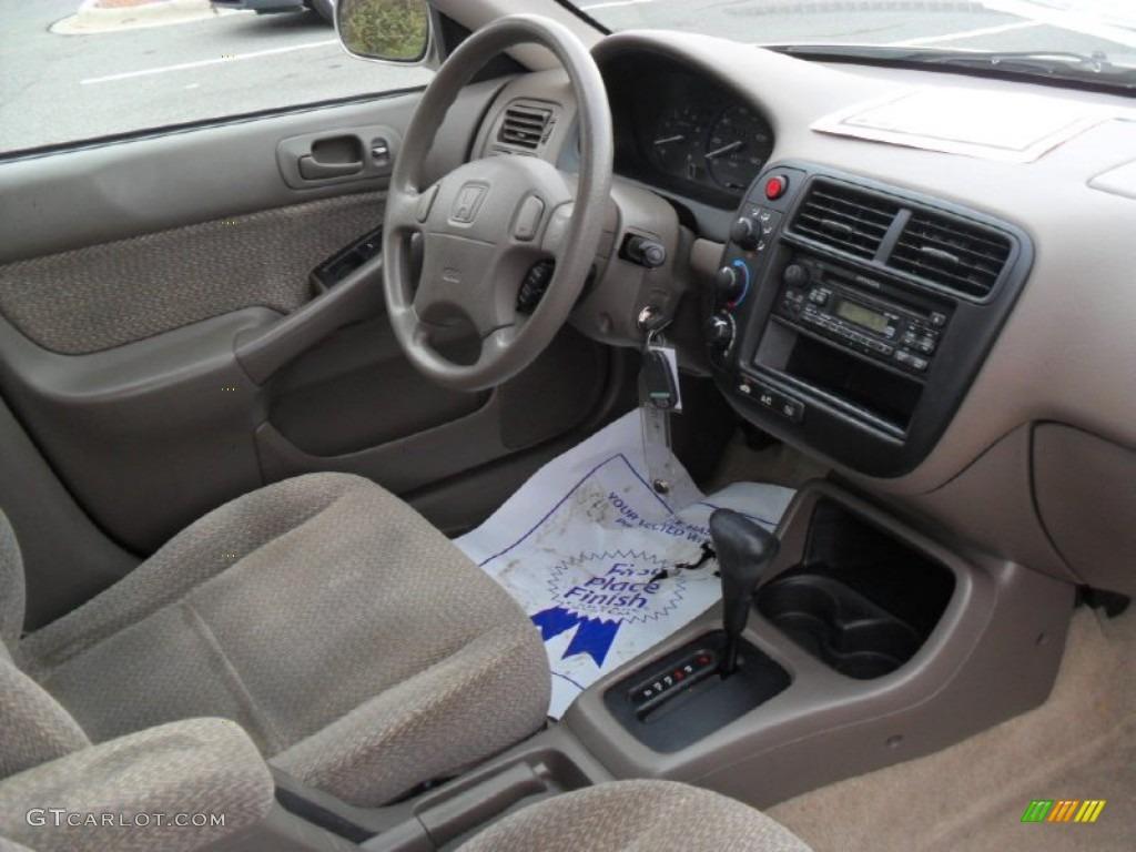 Beige Interior 2000 Honda Civic Ex Sedan Photo 59420045