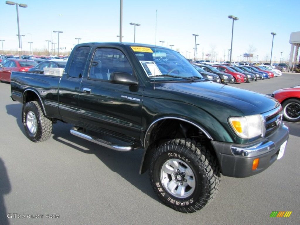 2000 Imperial Jade Green Mica Toyota Tacoma V6 Sr5 Extended Cab 4x4