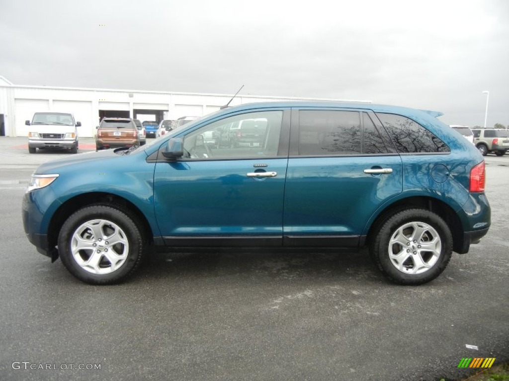 Mediterranean blue metallic 2011 ford edge sel exterior photo 59427953