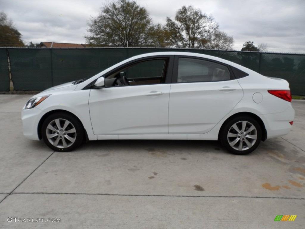 Century White 2012 Hyundai Accent Gls 4 Door Exterior