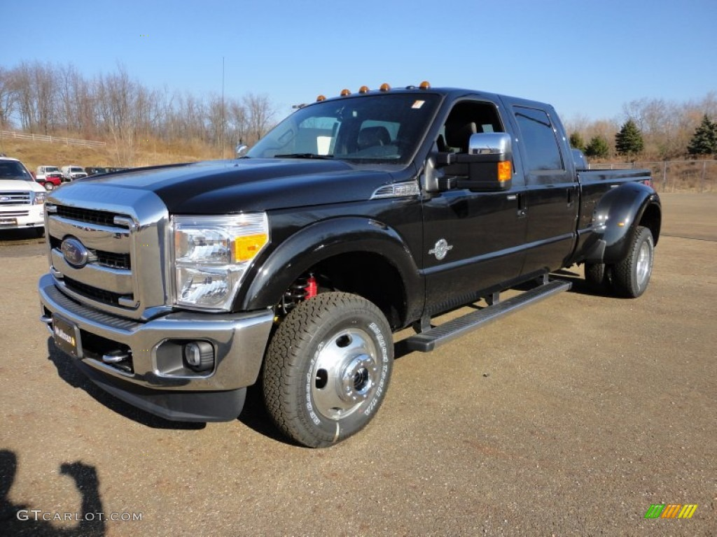 2012 f350 super duty lariat crew cab 4x4 dually tuxedo black metallic black photo