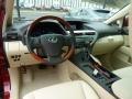 Parchment 2012 Lexus RX Interiors