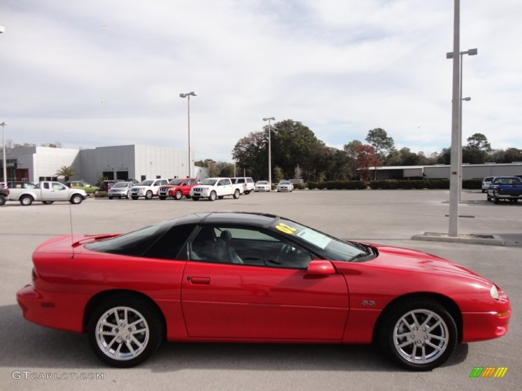 2002 bright rally red chevrolet camaro z28 ss 35th anniversary