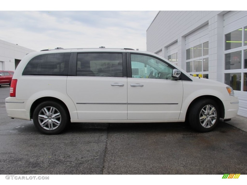 Stone White 2010 Chrysler Town Amp Country Limited Exterior