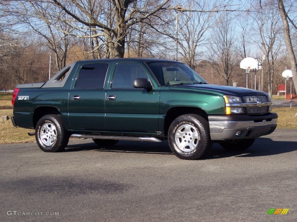 2004 dark green metallic chevrolet avalanche 1500 z71 4x4 59478658 photo 2. Black Bedroom Furniture Sets. Home Design Ideas