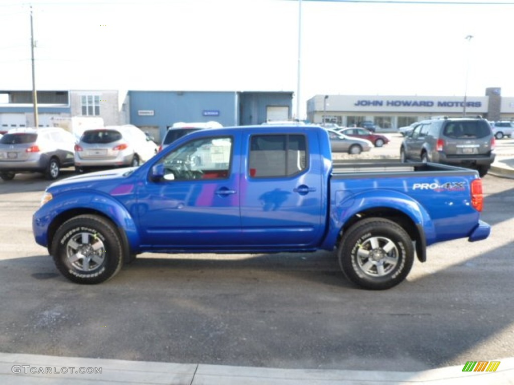 metallic blue 2012 nissan frontier pro 4x crew cab 4x4 exterior photo 59519940. Black Bedroom Furniture Sets. Home Design Ideas