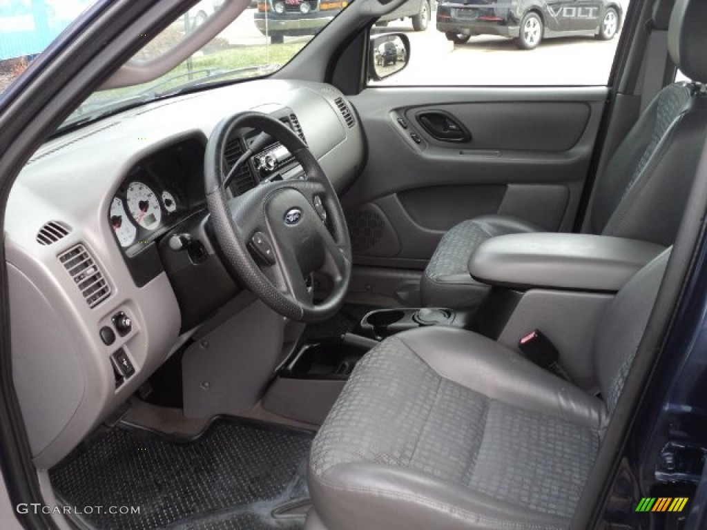 medium graphite interior 2002 ford escape xls v6 photo. Black Bedroom Furniture Sets. Home Design Ideas