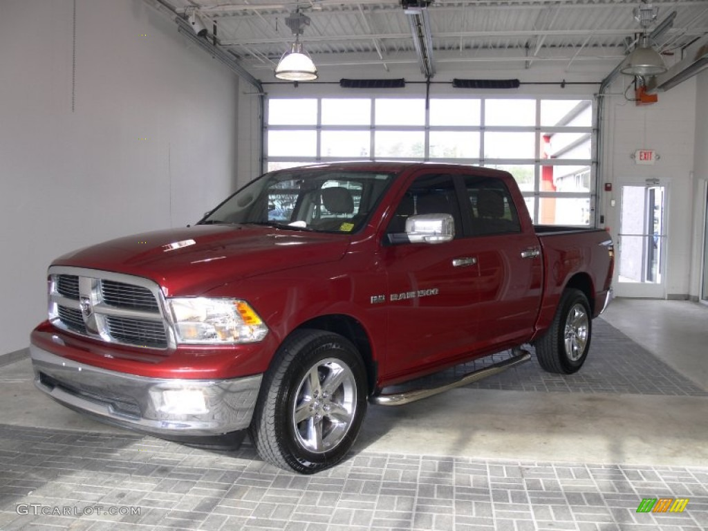 2011 Ram 1500 Big Horn Crew Cab - Deep Cherry Red Crystal Pearl / Light Pebble Beige/Bark Brown photo #1