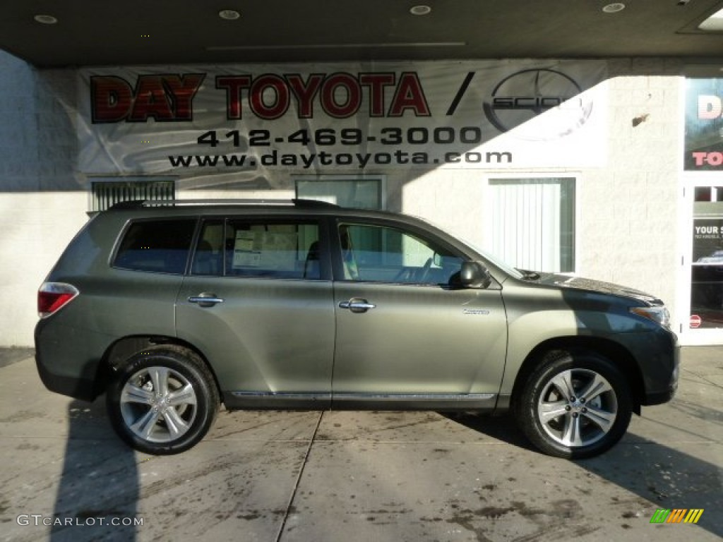 2012 Cypress Green Pearl Toyota Highlander Limited 4wd 59528864 Car Color
