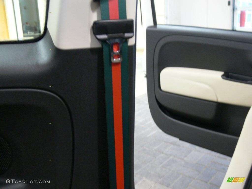 2012 Fiat 500 C Cabrio Gucci Gucci Striped Seat Belts