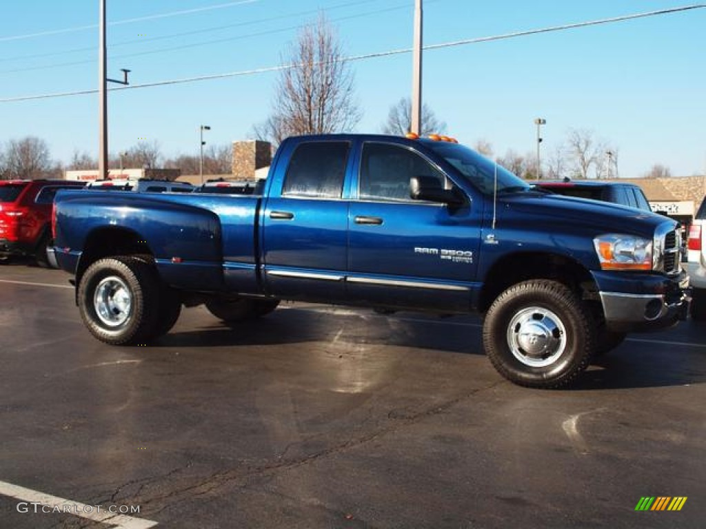 2006 patriot blue pearl dodge ram 3500 slt quad cab 4x4 dually 59528836 photo 2. Black Bedroom Furniture Sets. Home Design Ideas