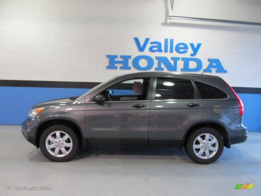 2011 CR-V SE 4WD - Polished Metal Metallic / Black photo #2